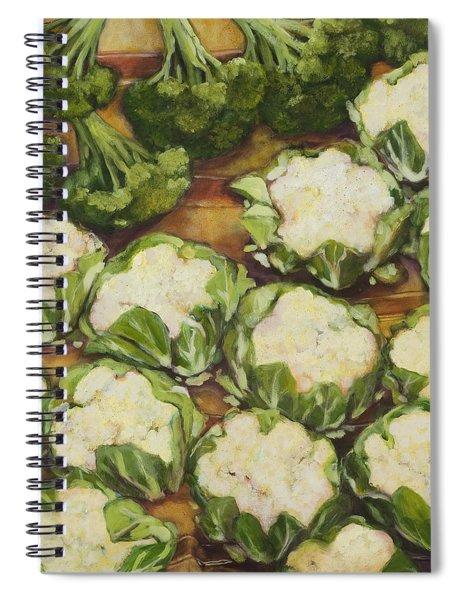 Cauliflower March Spiral Notebook