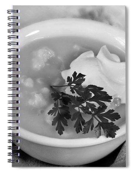 Cauliflower Soup Spiral Notebook