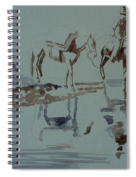 Cautious Creek Crossing Spiral Notebook