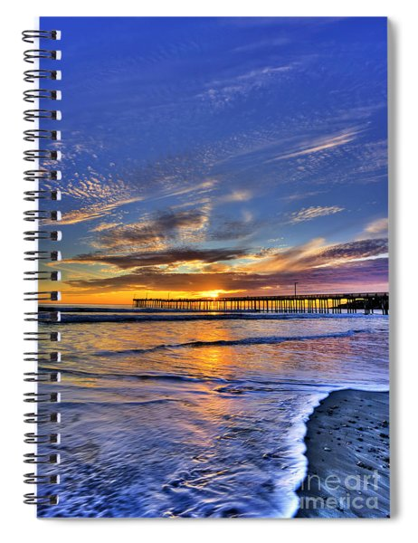 Cayucos Sunset Spiral Notebook
