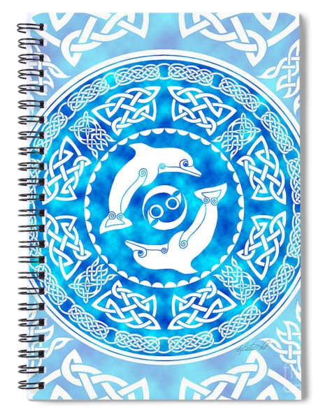 Celtic Dolphins Spiral Notebook
