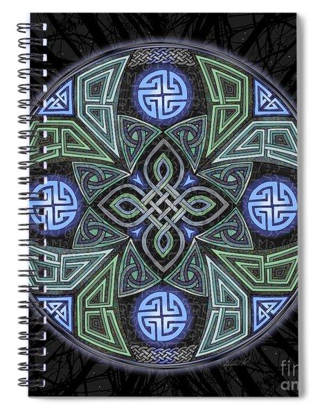 Celtic Ufo Mandala Spiral Notebook
