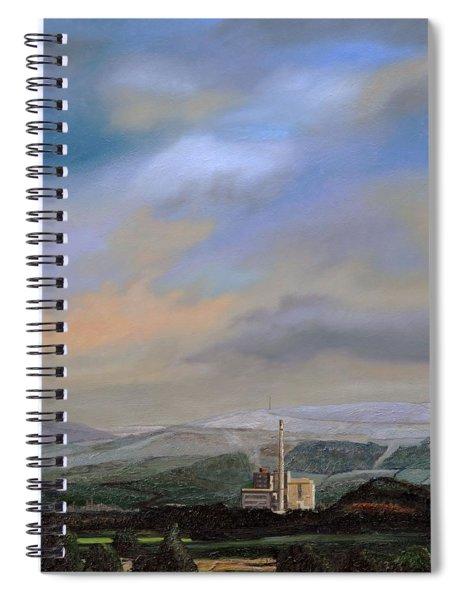 Cement Works, Hope Valley, Derbyshire, 2009 Oil On Canvas Spiral Notebook