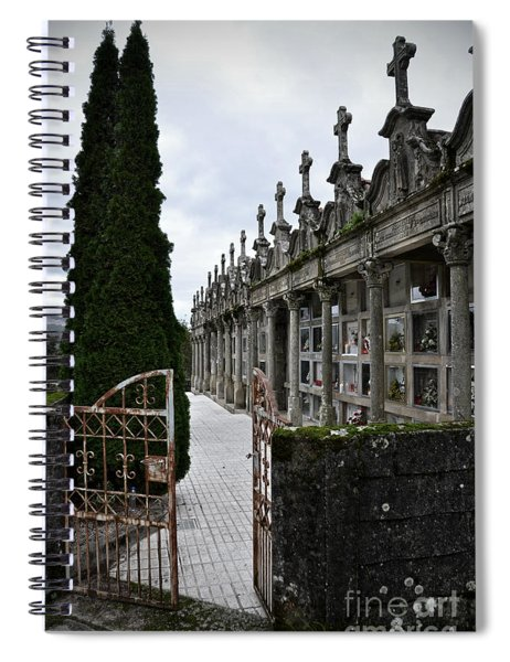 Cemetery In A Small Village In Galicia Spiral Notebook