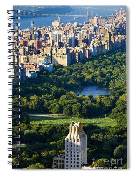 Spiral Notebook featuring the photograph Central Park by Brian Jannsen