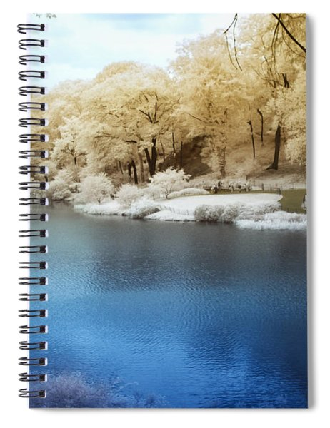 Central Park Lake Infrared Spiral Notebook