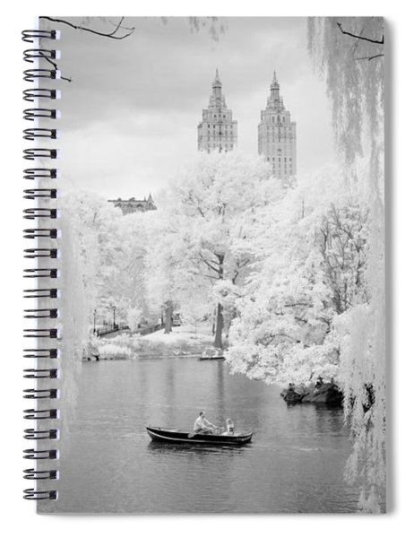 Central Park Lake-infrared Willows Spiral Notebook