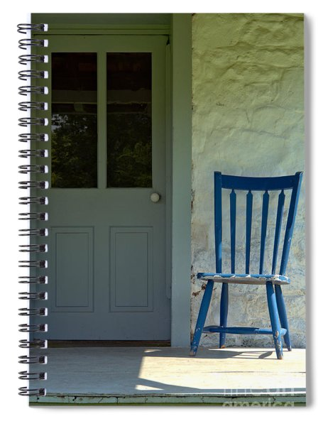 Chair On Farmhouse Porch Spiral Notebook