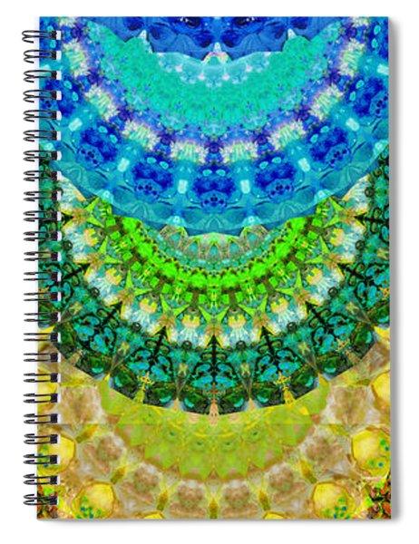 Chakra Mandala Healing Art By Sharon Cummings Spiral Notebook