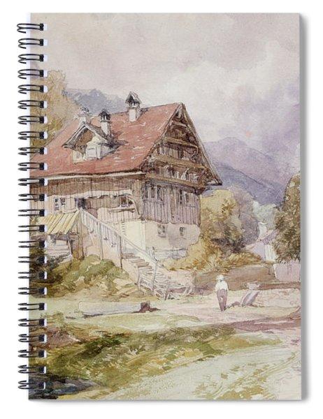 Chalet, Brunnen, Lake Lucerne Spiral Notebook