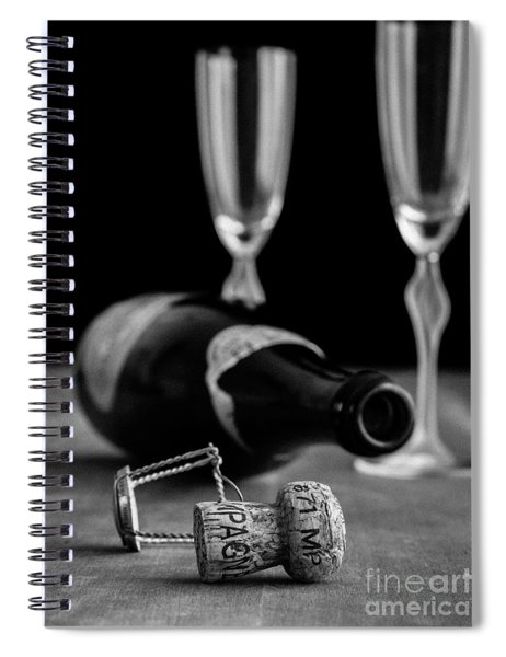 Spiral Notebook featuring the photograph Champagne Bottle Still Life by Edward Fielding