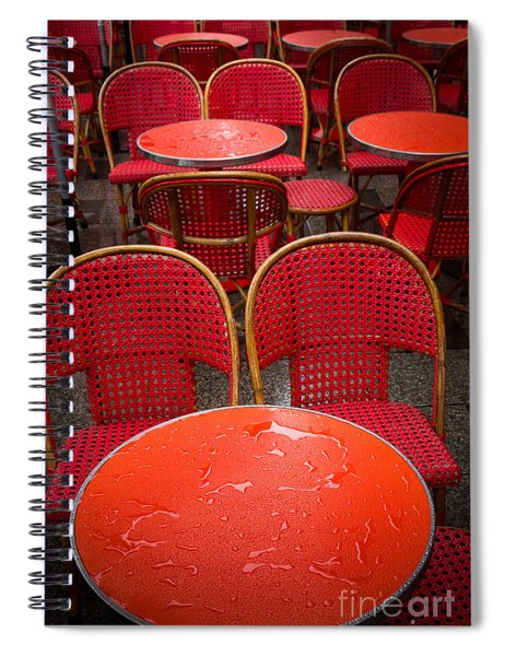 Champs Elysees Cafe Spiral Notebook