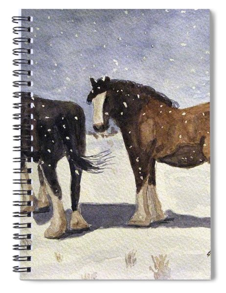 Chance Of Flurries Spiral Notebook