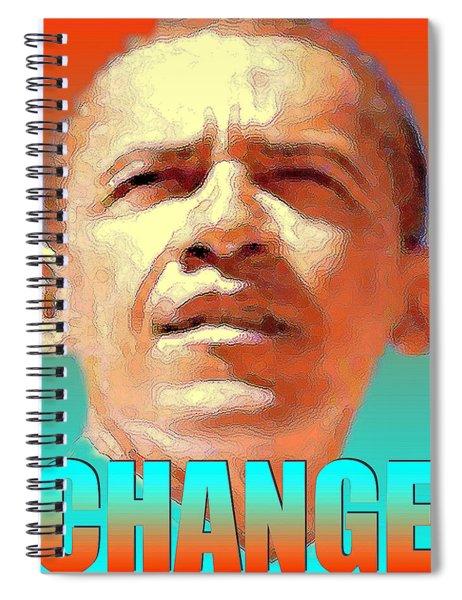 Change - Barack Obama Poster Art Spiral Notebook