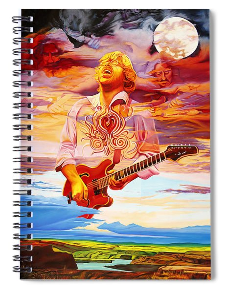 Channeling The Cosmic Goo At The Gorge Spiral Notebook