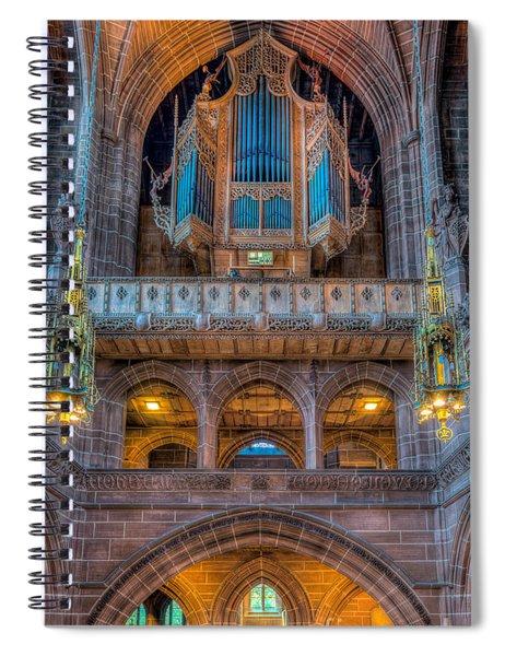 Chapel Organ Spiral Notebook