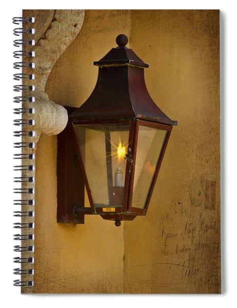 Charleston Carriage Light Spiral Notebook