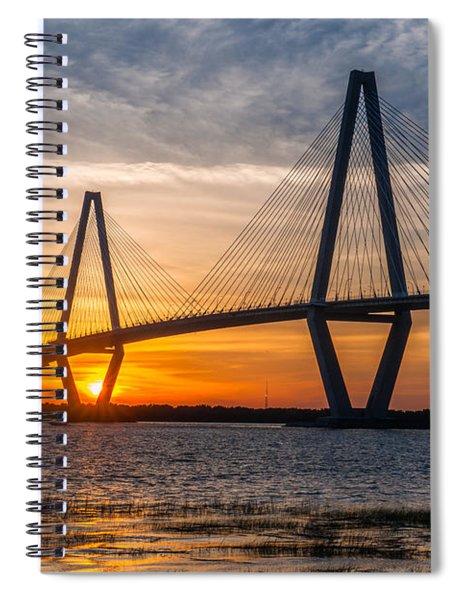 Charleston Sun Setting  Spiral Notebook