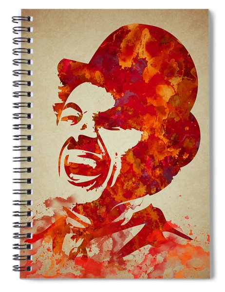Charlie Chaplin Watercolor Painting Spiral Notebook
