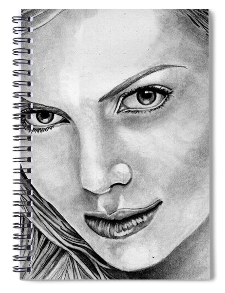 Charlize Theron Spiral Notebook