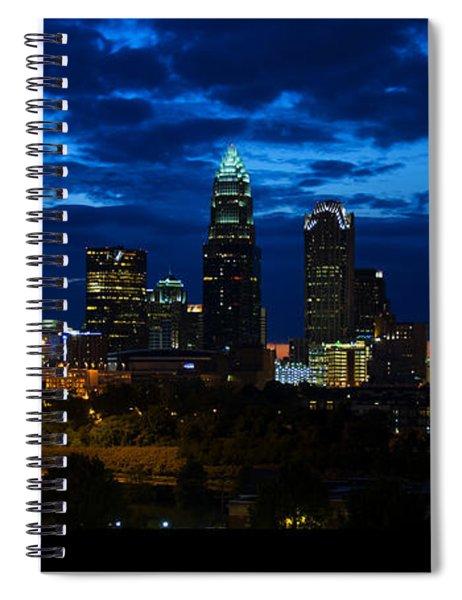 Charlotte North Carolina Panoramic Image Spiral Notebook
