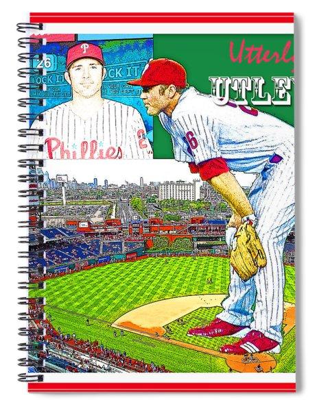 Chase Utley Poster Utterly Utley Spiral Notebook