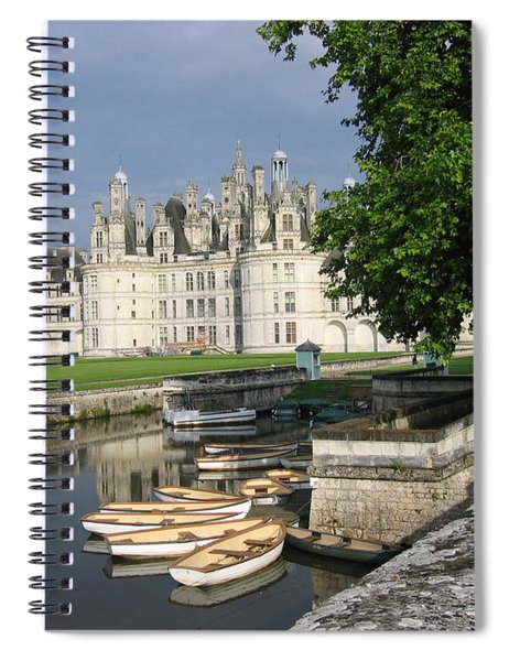 Chateau Chambord Boating Spiral Notebook