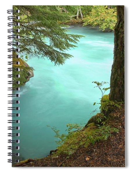 Cheakamus Blue Waters Under Cedar Spiral Notebook