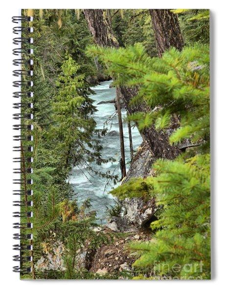Cheakamus River Through The Trees Spiral Notebook