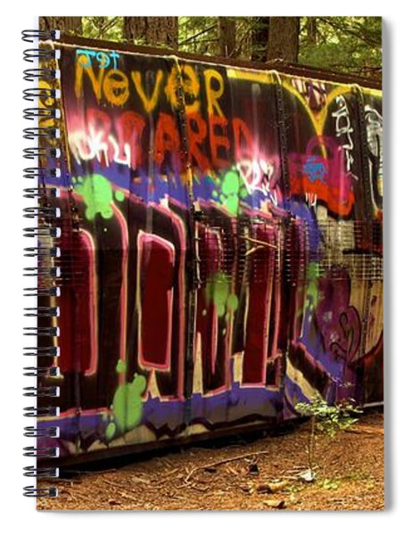 Cheakamus River Train Wreck Spiral Notebook