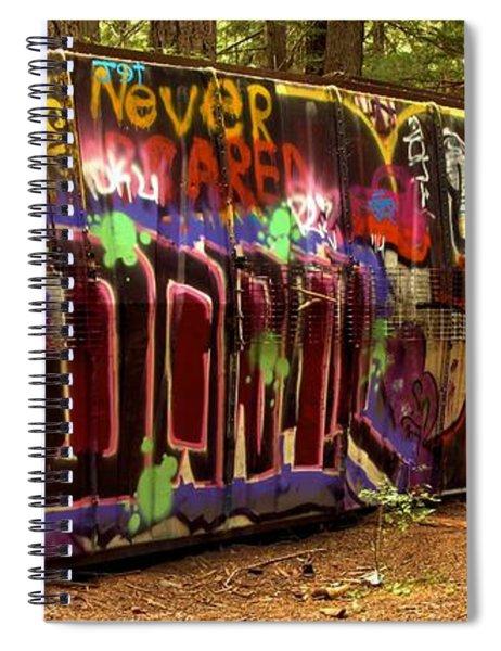 Cheakamus River Train Wreck Spiral Notebook