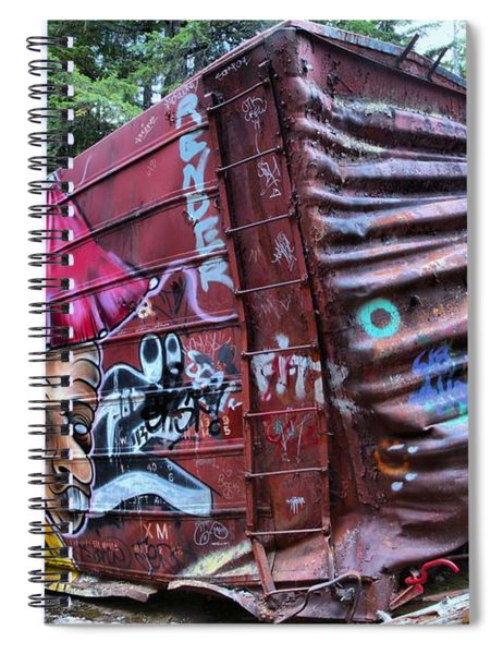 Cheakamus Box Car Graffiti Spiral Notebook