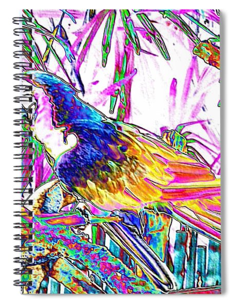 Cheerful Parrot. Colorful Art Collection. Promotion - August 2015 Spiral Notebook