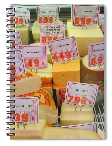 Cheese Display Spiral Notebook