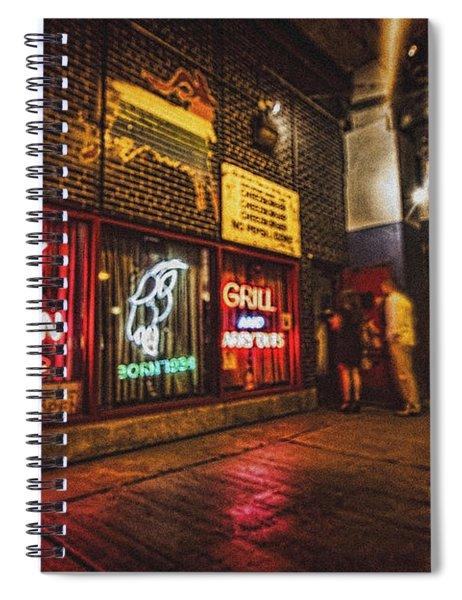 Cheezborger Cheezborger At Billy Goat Tavern Spiral Notebook