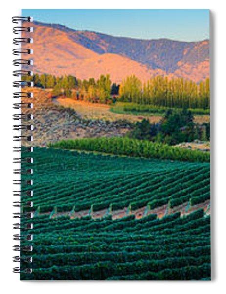 Chelan Vineyard Panorama Spiral Notebook