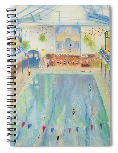 Chelsea Swimming Baths, 1997 Pastel On Paper Spiral Notebook