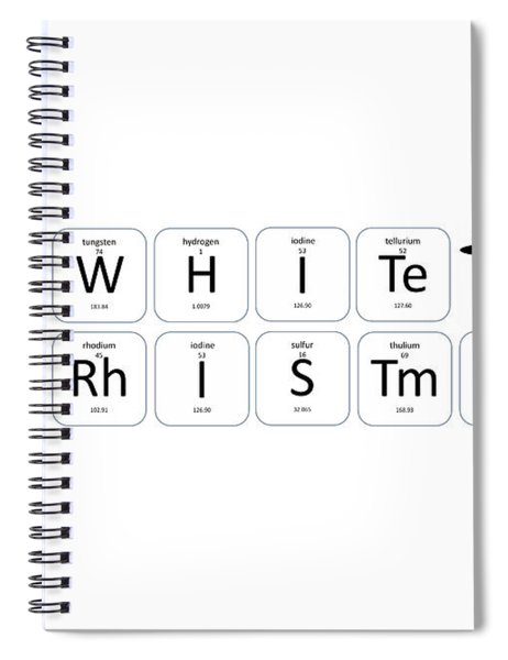 Chemistry - White Christmas Spiral Notebook