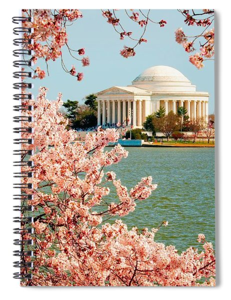 Cherry Trees At The Jefferson Spiral Notebook