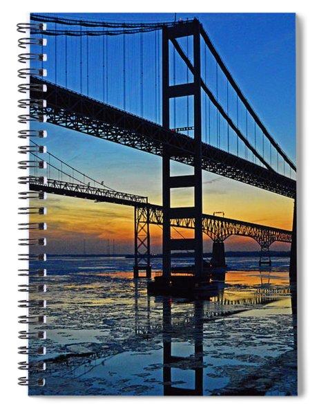Chesapeake Bay Bridge Reflections Spiral Notebook