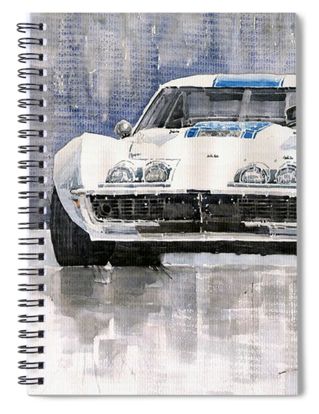 Chevrolet Corvette C3 Spiral Notebook