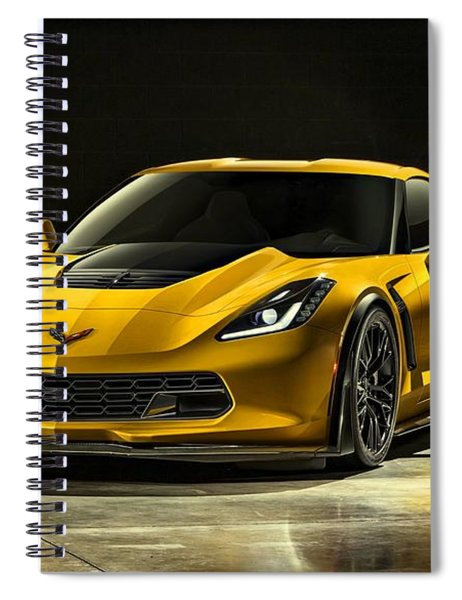 Spiral Notebook featuring the photograph Chevrolet Corvette Z06  by Movie Poster Prints