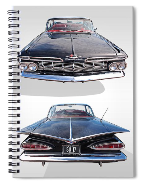 Chevrolet Impala 1959 Front And Rear Spiral Notebook