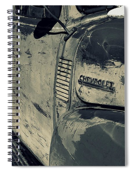 Arroyo Seco Chevy In Silver Spiral Notebook