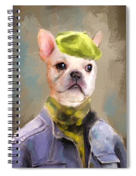 Chic French Bulldog Spiral Notebook