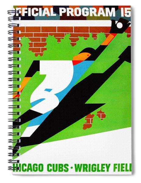 Chicago Cubs 1968 Official Program Spiral Notebook