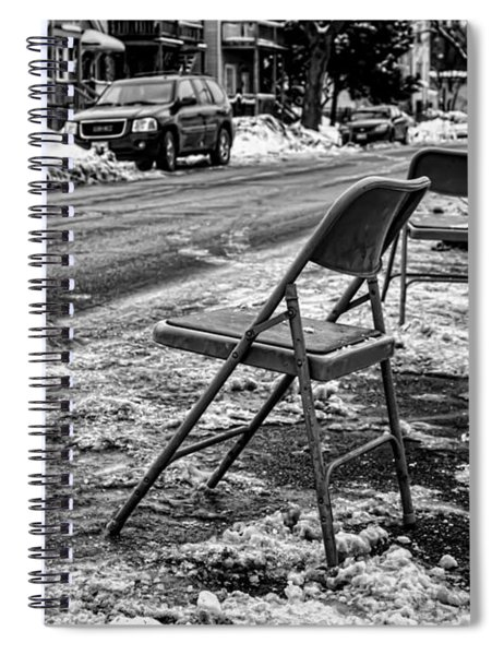 Chicago Dibbs Parking Scene Spiral Notebook
