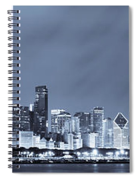 Chicago In Blue Spiral Notebook