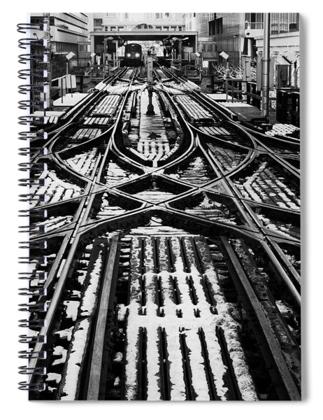 Chicago 'l' Tracks Winter Spiral Notebook
