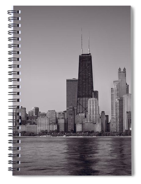 Chicago Morning Bw Spiral Notebook